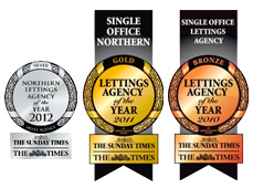 Gold, Silver and Bronze awards from The Times